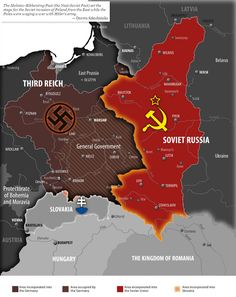 """lamus-dworski: """" The Nazi-Soviet invasion of Poland in September 1939 The Molotov-Ribbentrop Pact, named after the Soviet foreign minister Vyacheslav Molotov and the German foreign minister Joachim. Joachim Von Ribbentrop, World Empire, Invasion Of Poland, Asia Map, Germany Ww2, Fantasy Map, Alternate History, Historical Maps, Antique Maps"""