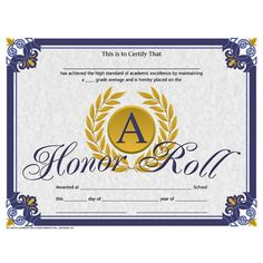 Honor Roll Certificate Templates Free Fresh Pin by Canva Education Layouts On School Certificate Ideas Certificate Of Achievement Template, Printable Certificates, Award Certificates, Certificate Templates, School Certificate, Birth Certificate, Teacher Awards, Student Awards, Honor Student
