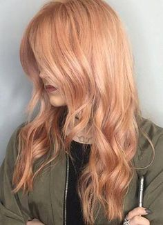 Trends 2018 Gold Rose Hair Color : 65 Rose Gold Hair Color Ideas for 2017 Rose Gold Hair Tips & Maintenance Maroon Hair Colors, Red Hair Color, Red Colour, Peach Hair, Rose Gold Hair, Gray Hair, Silver Hair, White Hair, Strawberry Blonde Hair Color
