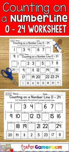 Practice counting to 24 in this no prep cut and paste activity. Great for kindergarten centers. CCSS aligned. K.CC.1 #mathforkindergarten