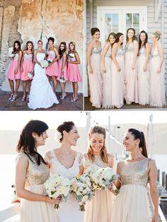 Two-tone bridesmaid dresses are increasing popular in this season and will remain popular in 2014! If you are wondering what color to choose for your bridesmaids or having trouble in deciding between two colors, how about try them both? ItREAD MORE
