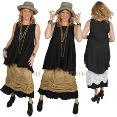 SUNHEART Ruffled Bloomers Black one size fits by SUNHEARTCLOTHING, $55.00