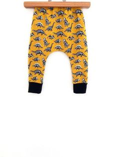 e58079c51ea Buy Now Kids dinosaur pants toddler mustard dinosaur joggers... Baby  Leggings