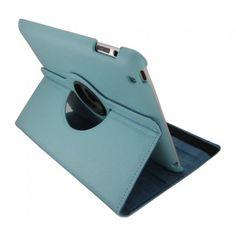 iPad cover med 360 graders roterende case - Lyseblå - CheapGear