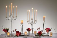 """Accent Decor - Crystal Candlestick 17"""""""