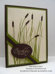 Stamping to Share: 4/1 A Great Card for a Guy DIAGONAL RIBBON