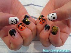 アートいっぱいのハロウィンネイル Halloween nail art full