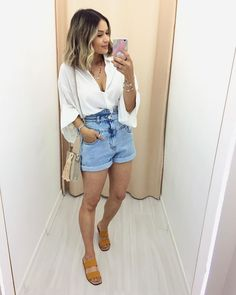 Indie Outfits, Cute Casual Outfits, Fashion Outfits, Summer Outfits For Moms, Spring Outfits, Look Star, Outfit Combinations, Casual Chic Style, Look Fashion