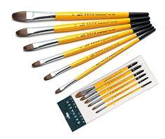 Bestwoohome Horsehair Miniature Art Brushes Professional ...