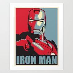 Iron Man - Obama Hope Poster - Accurate Art Print