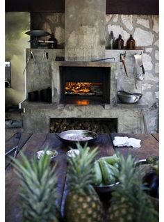 Rustic Fireplace Design- Home and Garden Design Ideas
