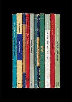 The Stone Roses Poster Print Debut Album As Penguin Books