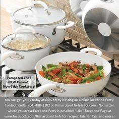 New Pampered Chef cookware is 60% off!