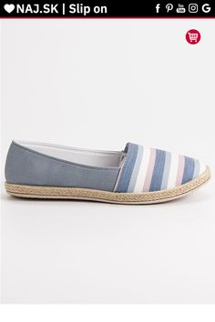 Pruhované sivé slip on s krajkou Sweet Shoes Espadrilles, Slip On, Sweet, Fashion, Espadrilles Outfit, Candy, Moda, Fashion Styles, Fashion Illustrations