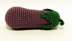 Berenjena crochet alfiletero Eggplant needle case, crochet