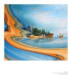 Garip AY: Painting on Ebru