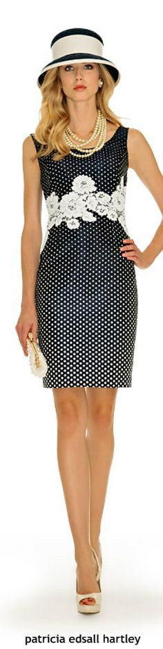 black dot dress.  @roressclothes closet ideas women fashion outfit clothing style