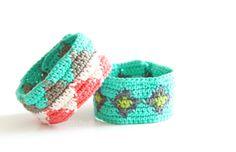 Gehäkelte Armbänder mit Mustern - Tatendrang // crochet (triangle) bracelets
