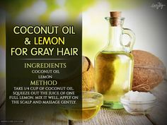 This coconut oil and lemon mixture works wonders for your hair. It moisturizes your hair, stimulates hair growth, fights infections, and adds luster to your hair. When used for a prolonged time, it also helps reverse gray hair because it is packed with antioxidants.