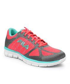 Look what I found on #zulily! Coral & Aqua Speedweave Running Shoe - Women by FILA #zulilyfinds