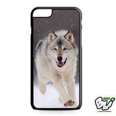 Wolf Run On White Snow iPhone 6 Plus Case | iPhone 6S Plus Case
