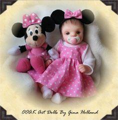 OOAK Clay Baby Dolls | OOAK Polymer Clay Baby Girl Art Doll Mini By Gina Holland
