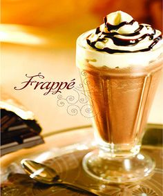 You can be extraordinarily happy with some coffee, milk and chantilly.