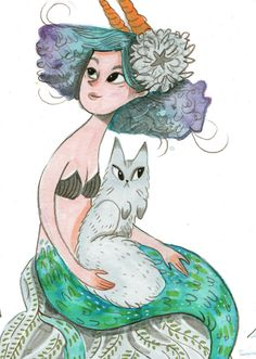 Mermaid art print ho