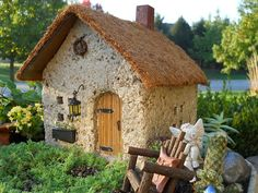 Thatched Roof Fairy House - Made in the USA
