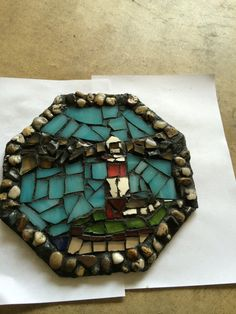 Lighthouse Mosaic by B2CraftyCreations on Etsy