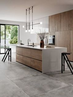 Kitchen Room Design, Kitchen Cabinet Design, Kitchen Layout, Home Decor Kitchen, Interior Design Kitchen, Home Kitchens, Living Room Kitchen, Kitchen Ideas, Farmhouse Kitchens