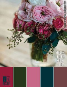 Flower, Colored Bright I Am | Color Blocks Design