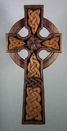 This black walnut Celtic Cross with attached cherry panels was carved by Celtic Woodcraft in Alfred Station, NY.     pinned by www.affordablecomp.net