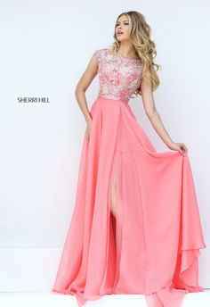 Sherri Hill 50445 Style Cap Sleeve Prom Dress
