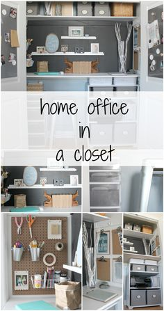 home office in a closet tour - the crazy craft lady