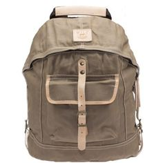 Waxed Canvas Dome Backpack - Khaki