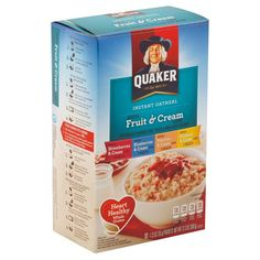 Quaker Instant Oatmeal, Oatmeal With Fruit, Strawberry Blueberry, Healthy Grains, Banana Cream, Cafe Food, Corn Syrup, Snack Recipes, Snacks