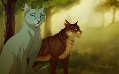 Forest Cats by WhiteKimya.deviantart.com on @DeviantArt