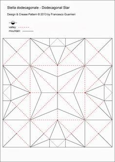 Origami, CP: Piatto per Natale - Dish for Christmas by Francesco Guarnieri Geometric Origami, Origami And Kirigami, Origami Paper Art, 3d Paper Crafts, Origami Design, Origami Stars, Origami Flowers, Origami Easy, Oragami