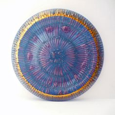 Higgins Glass Blueray Platter