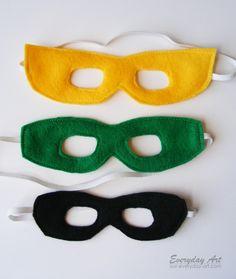 Super Hero Masks - FREE Pattern
