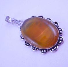 Botswana Agate .925 Silver Handmade Pendant Jewelry 18 Gr. #Handmade #Pendant