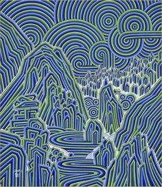 #문화생활엔_문화뉴스! 문화융성을 선도하는 문화예술미디어 [평생의 꿈을 향한 여정, 박일선 작가의 개인展 '몽유금강산'] munhwanews.com Korean Crafts, Korean Painting, Exhibition, China Art, Korean Art, Glitch Art, Traditional Art, Female Art, Illustration Art