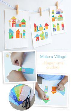 Paint Chip Craft for Kids - Manualidad con muestras de pintura