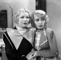 Remembering Glenda Farrell on her birthday, here with Joan Blondell in HAVANA WIDOWS ('33)