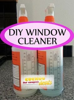 Two different kinds of diy window cleaner that works just like winded.