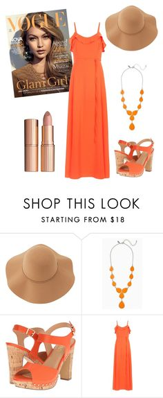 """""""Orange You Glad To See Me?"""" by emmy-awards ❤ liked on Polyvore featuring Sans Souci, XOXO and New Look"""