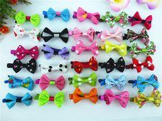 50pcs lovly  Kid Princess girl hair accessories ribbon  Bow Hair Clips  hair bow clips HC-1