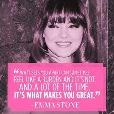 What makes you #great #EmmaStone Katja Cho/Getty