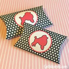 Poodle Pillow Box - Cut or Print & Cut